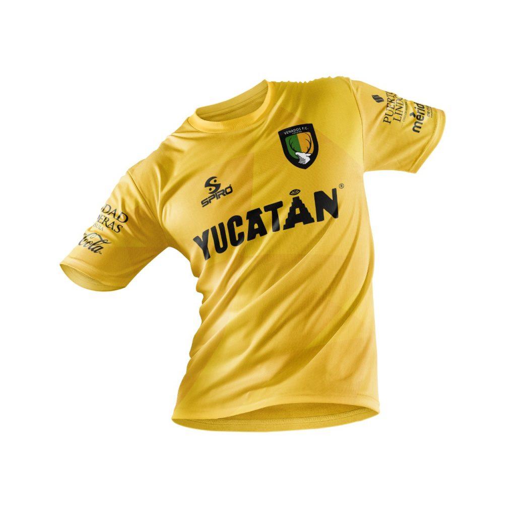 Venados FC playera oficial amarilla/blanca